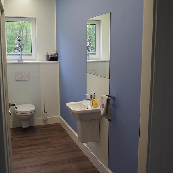 Gäste WC, Lünne - auch kleine Räume freuen sich über Farbe